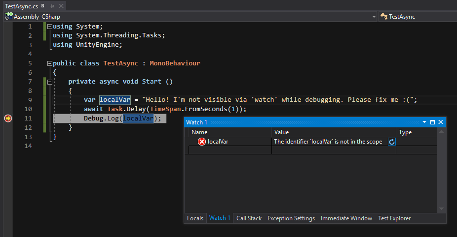 Debugging with async and await - Unity Forum
