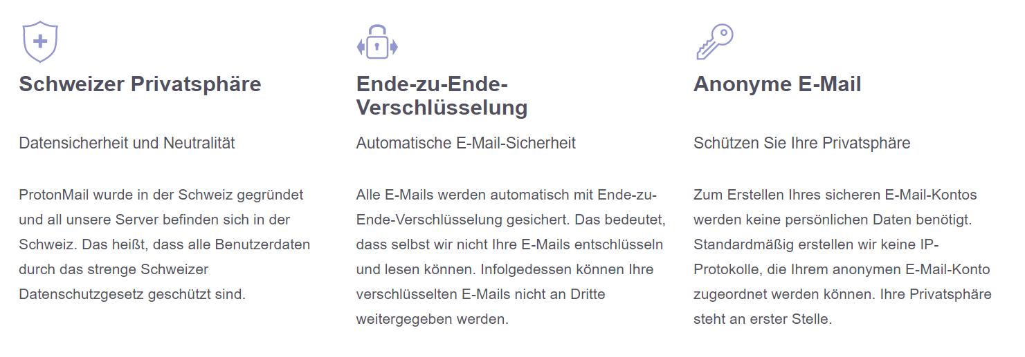 ProtonMail - Informationen zur Sicherheit des E-Mail Dienstes