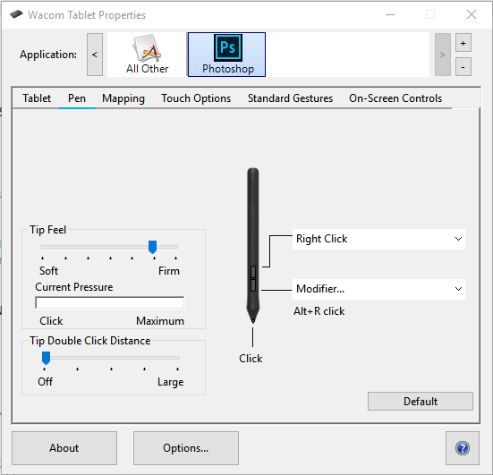 Alt+Right Click to resize brush and other keybi    | Adobe