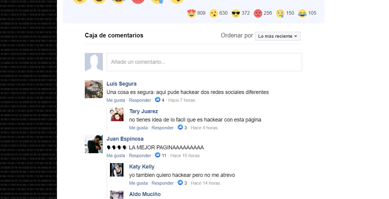 caja de comentarios facebook