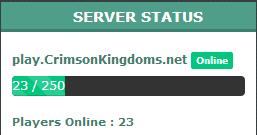 Custom Minecraft Server Status Module (MCAPI)