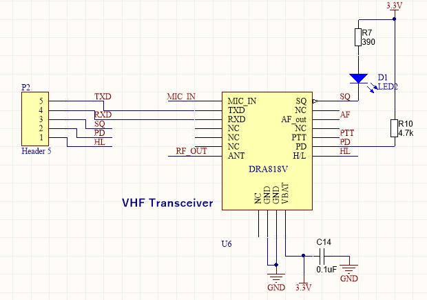 DRA818V schematic