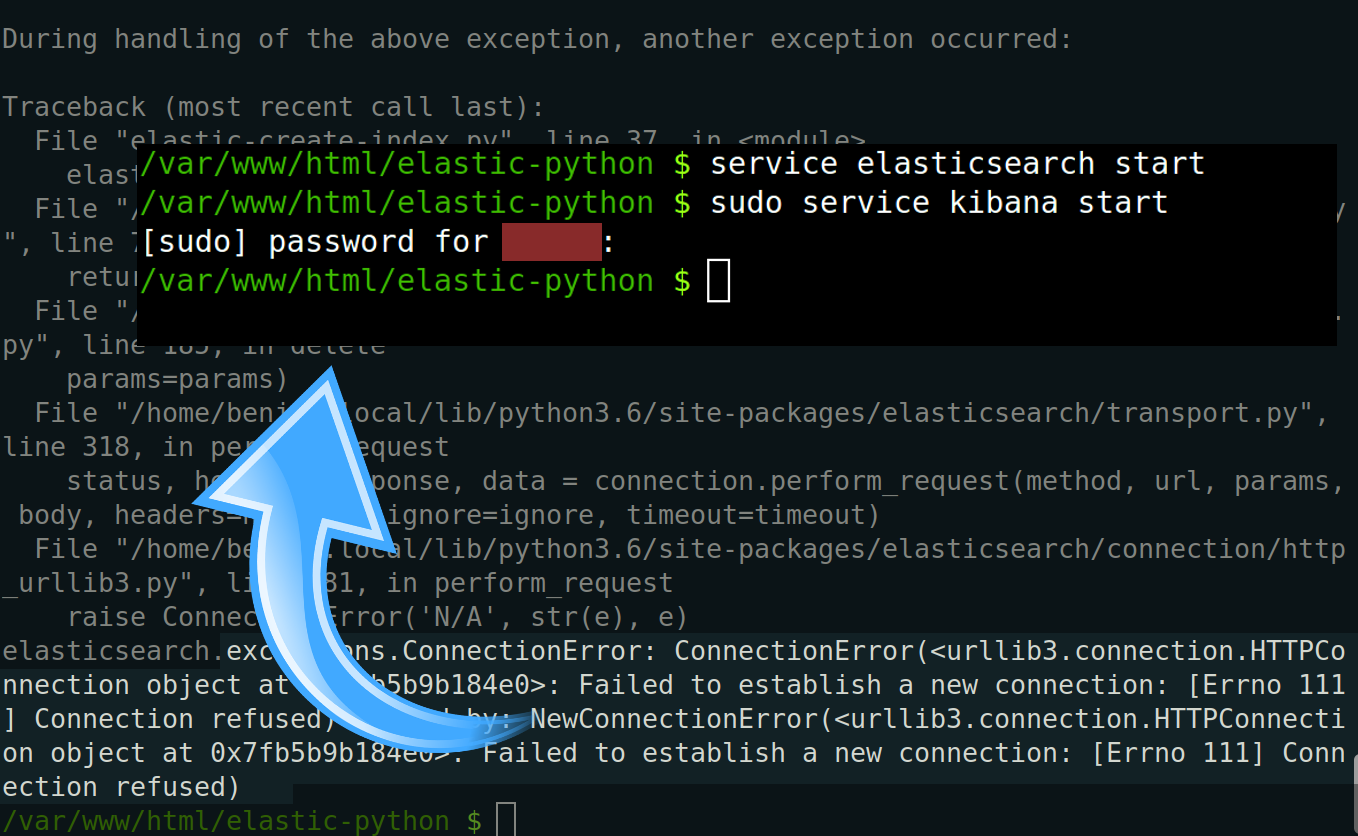 Connection Error for Elasticsearch Python Client