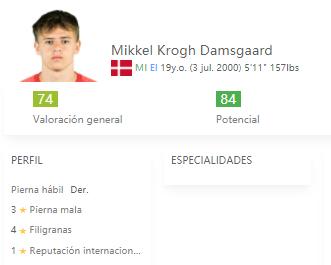 Damsgaard FIFA 22