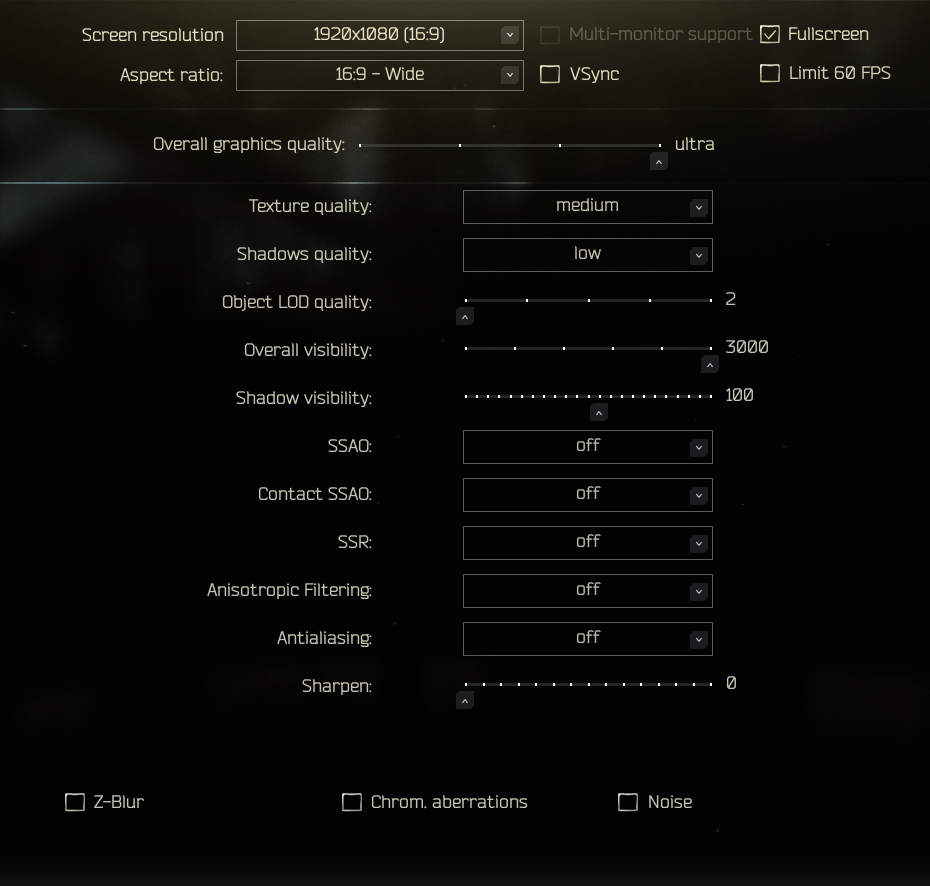 Best settings for stable FPS : EscapefromTarkov