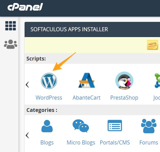 install wordpress softaculous