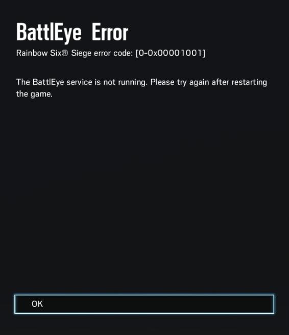 Battleye Service Not Running Error [0-0x00001001] | Forums