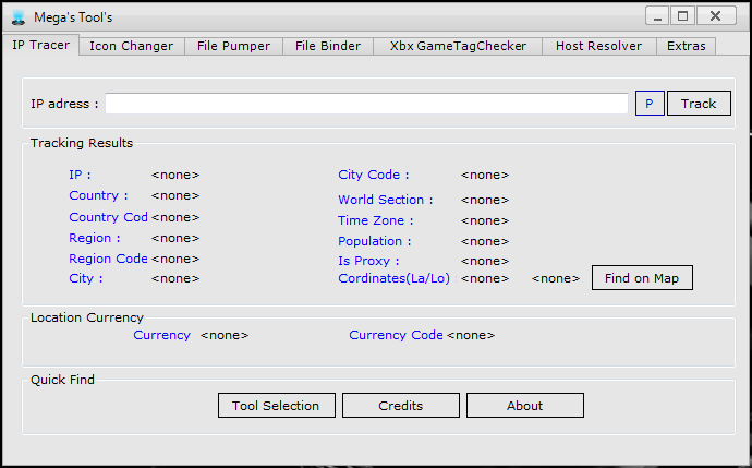 Tools Skype DOXer | GamerTag Checker | IP Tracer | File Pumper | Extension Spoofer
