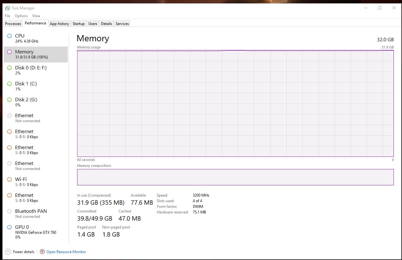 Hack Forums - Windows MAX Memory Usage?