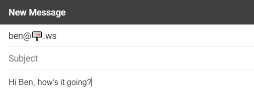 Sending first emoji mail