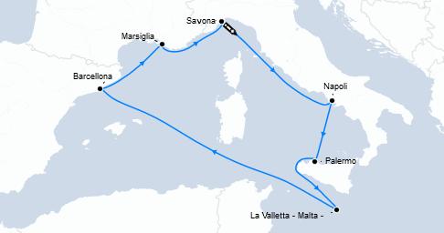 Guarda qui l'offerta crociera Mediterraneo!
