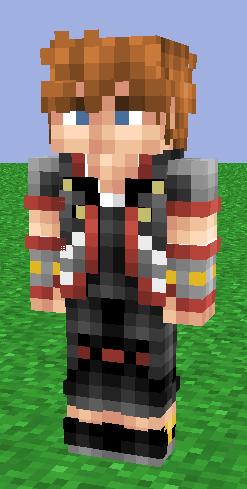 minecraft skin sora kingdom hearts 3