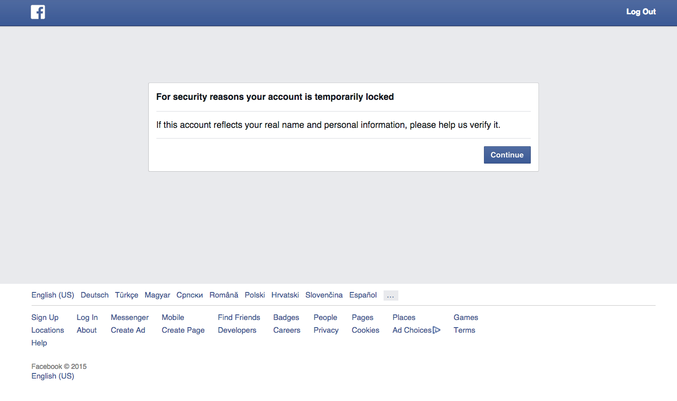 Facebook Block my real account now? (no ads) (asking for private