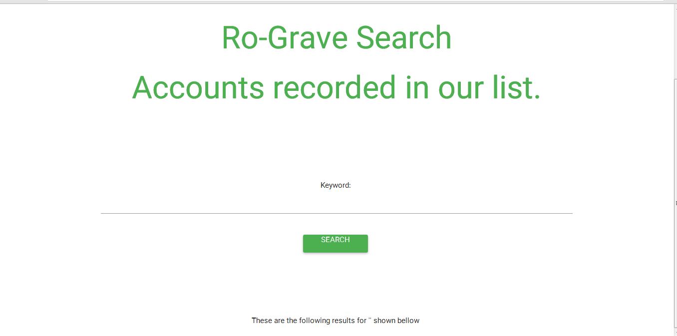 RO-Grave over than 150k Accounts *New Site* l Roblox DB l Dump site!