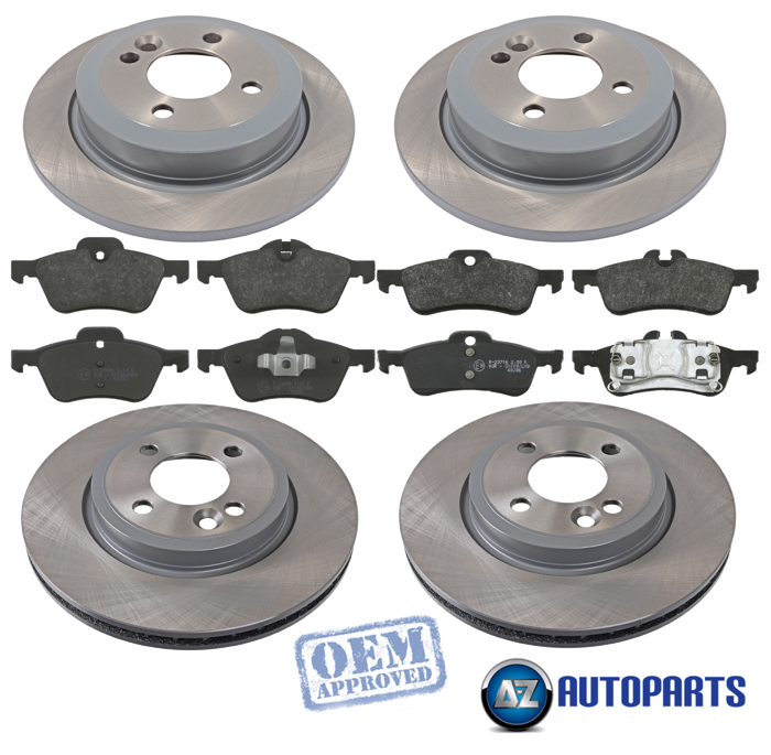 MINI ONE COOPER COOPER S R50 R53 2001-2006 FRONT 2 BRAKE DISCS AND PADS SET NEW