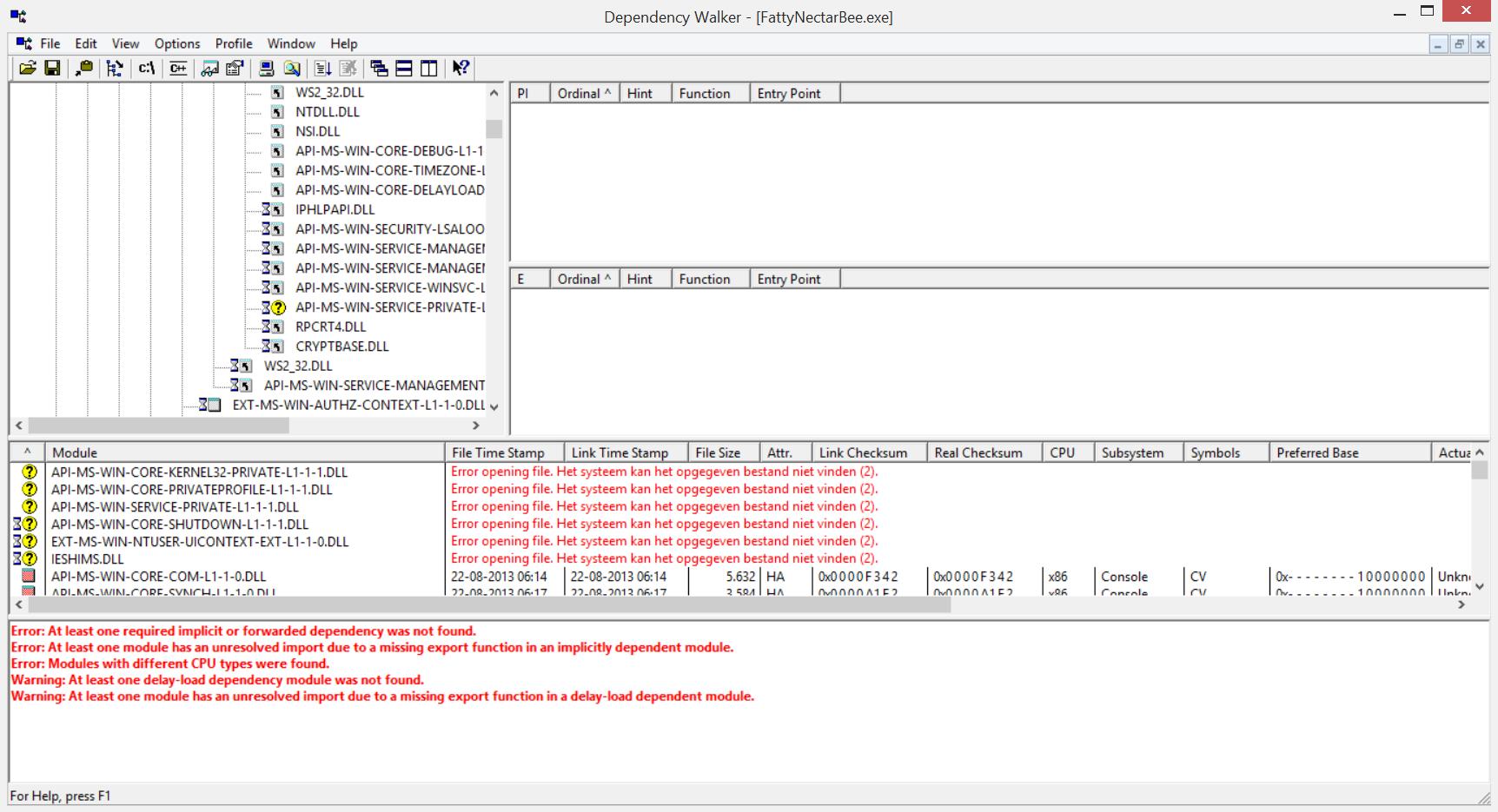 0xc00007b file