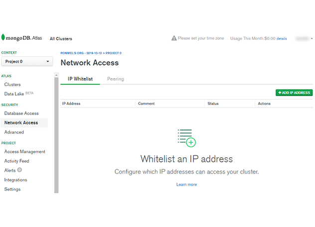 image shows the Network Access Section