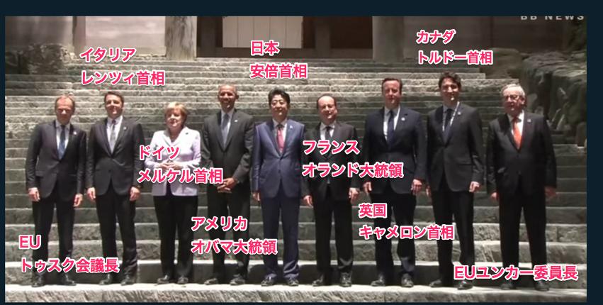 G7伊勢志摩サミット 参加国7ヶ国なのになぜ9人いるの?首相よりも大統領の方が格上? 2