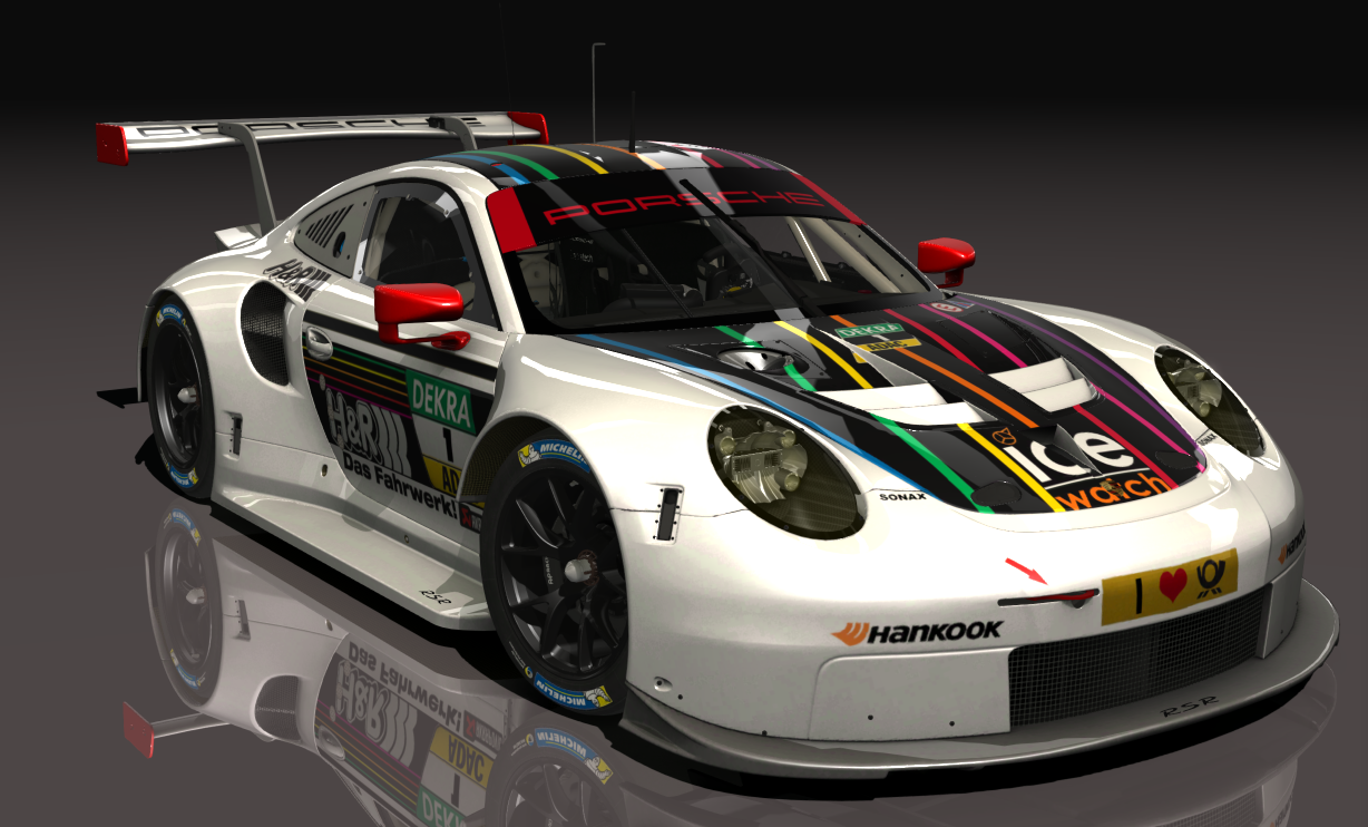 porsche 911 rsr team mtek ice watch 1 racedepartment. Black Bedroom Furniture Sets. Home Design Ideas