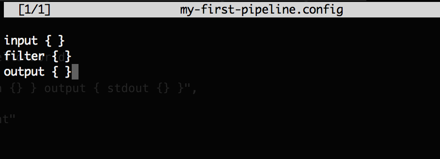 Simple Layout for Logstash Pipeline Config File