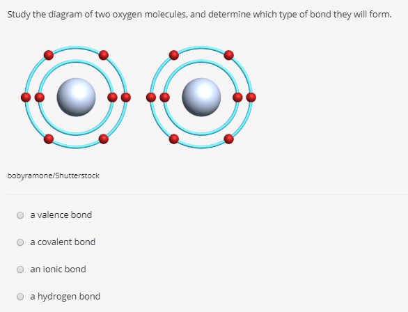 Solved Study The Diagram Of Two Oxygen Molecules And Det