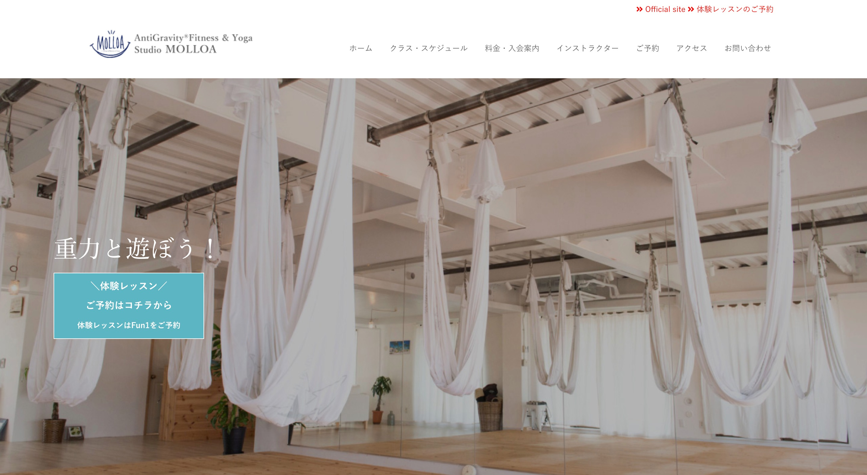 AntiGravity®Finess & Yoga Studio MOLLOA モロアの画像