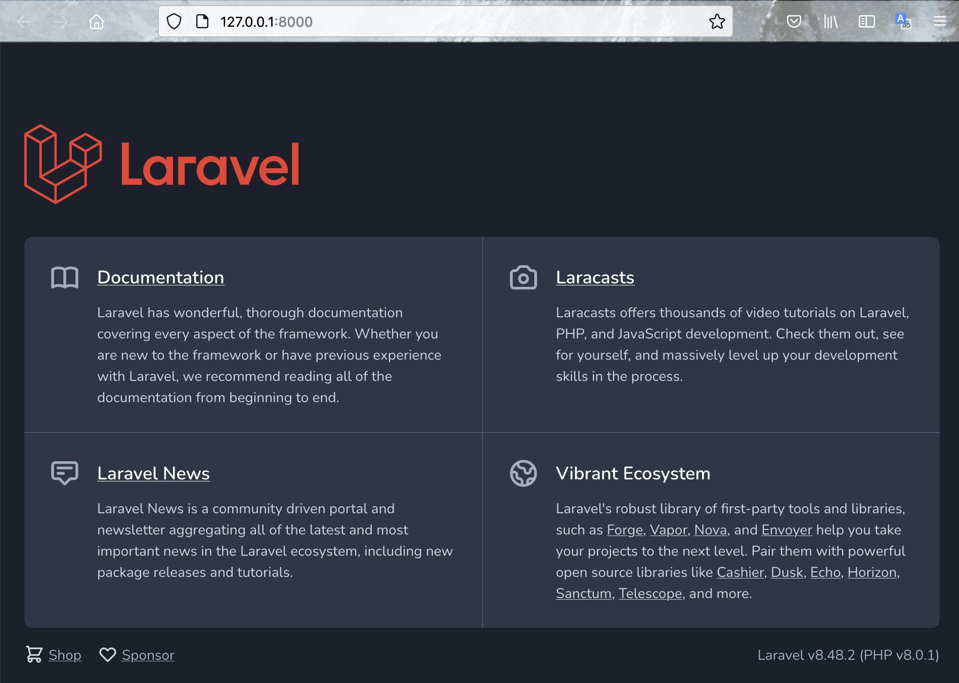 LaravelでVue.jsバージョン3を使用する