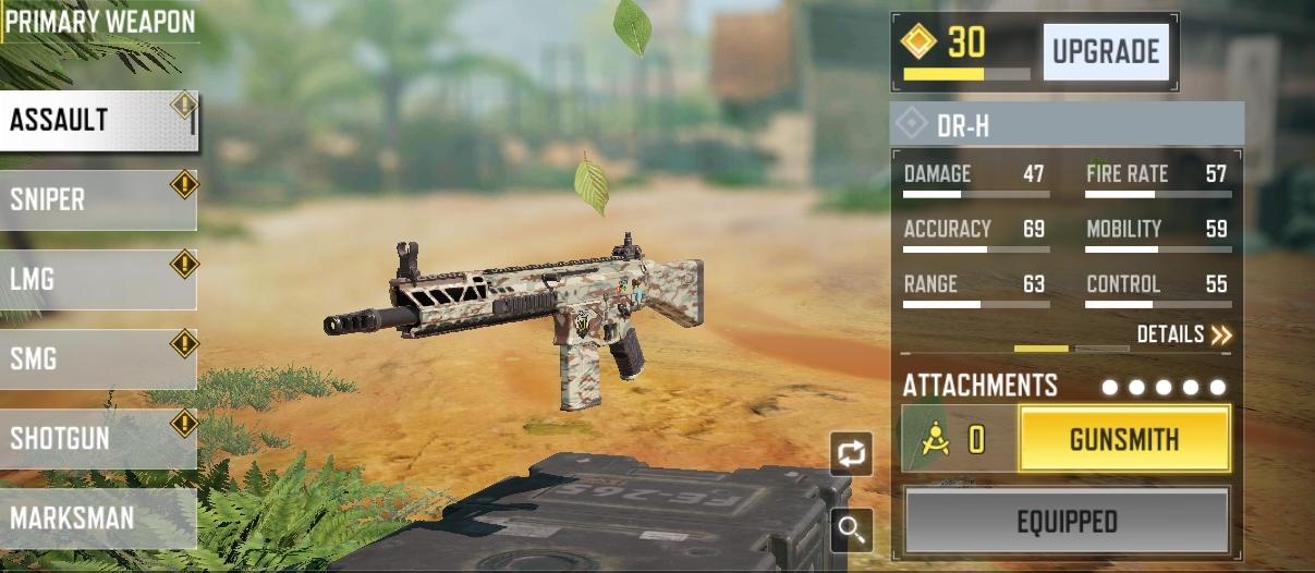 cod mobile season 11 dr-h best assault rifle