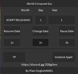 Release] World Conquest Script [Date, TP]