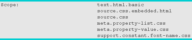Scopes в Output Console