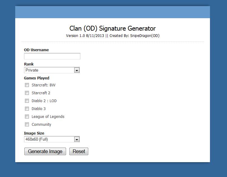 Clan OD Signature Generator - Graphic Design - Overdosed Community ...