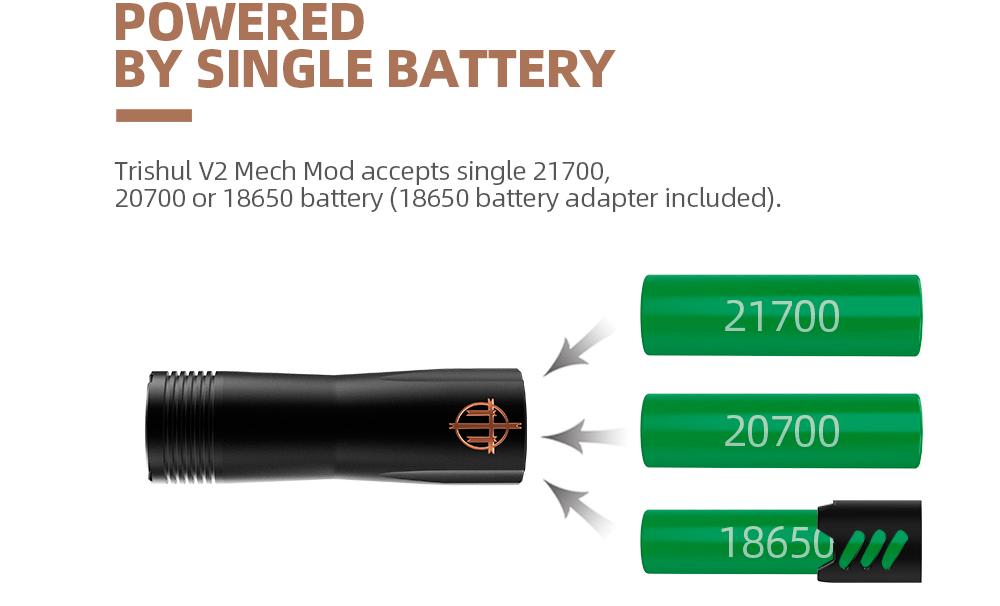 Baterías compatiblesde Hellvape Trishul V2 Mech Mod:
