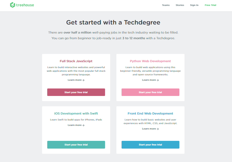 TeamTreeHouse TechDegree Course Free