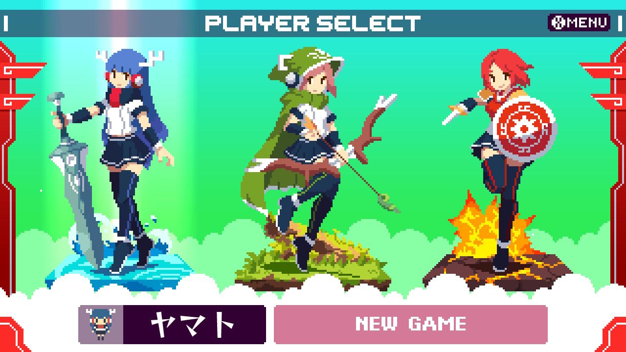 神巫女キャラクター選択画面