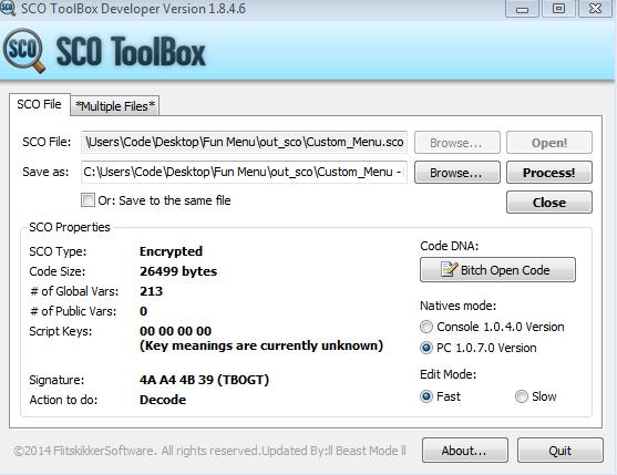 [IV/EFLC|REL] SCO ToolBox Developer Version 1.8.4.6 4f09a8f3f6b28e476e61c0d8ff997cc2