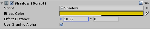 Default Shadow Script on guitext