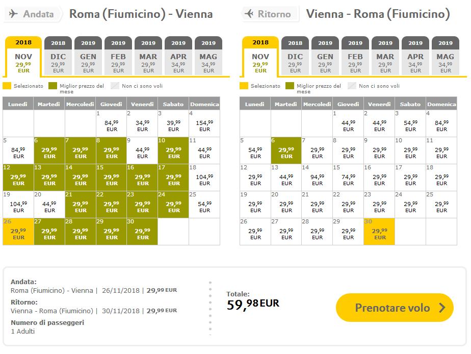 Offerta Vueling Roma Vienna