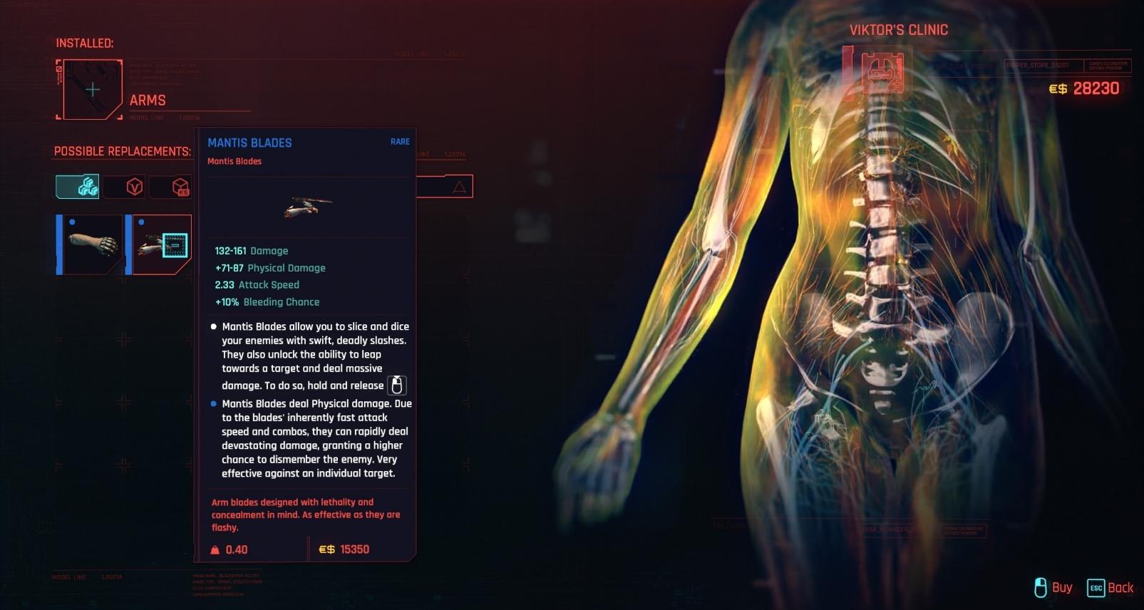cyberpunk 2077 best cyberware upgrades ripperdoc