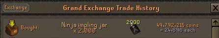 Clue Maniac - 1000 Ninja Impling jars (Finished) + 2000 more Jars (Finished) 518159ab95c1a034748a309561e527f5