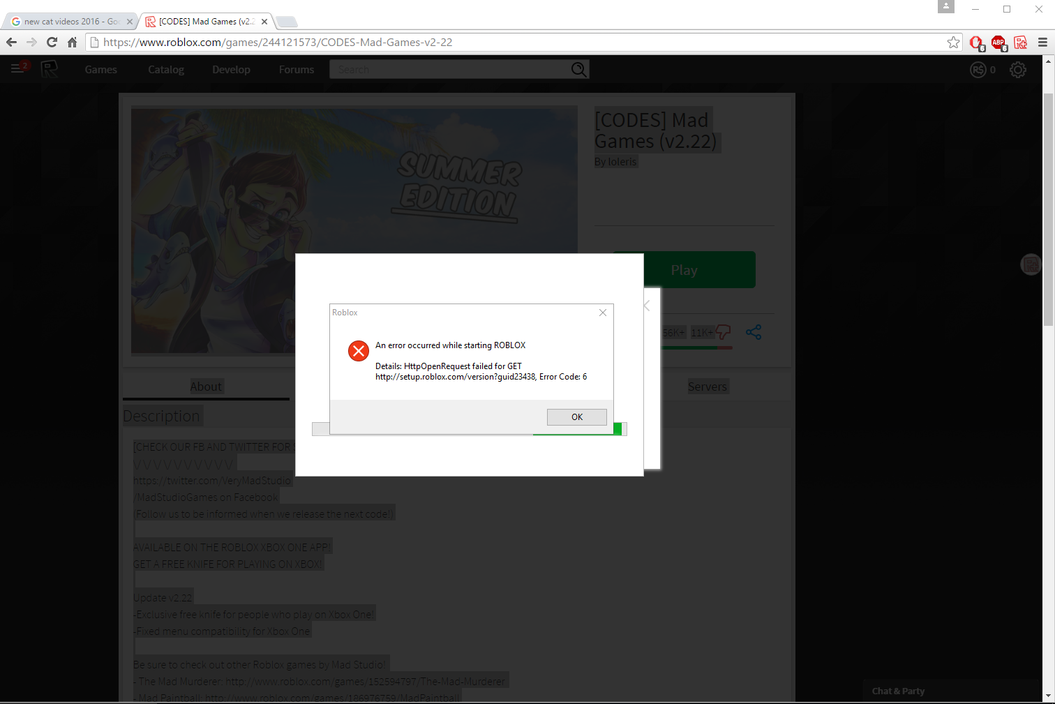 Roblox Xbox Error 116 Error Code 109 Roblox Xbox One Roblox Games That Give You Free Items 2019