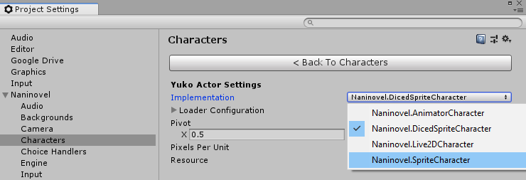 Actor Implementation
