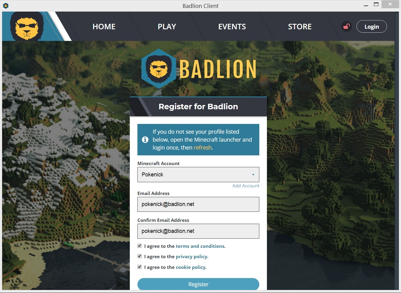Registering | Badlion Network