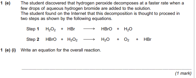 how to find oxidising agent from overall equation