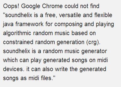 Randomly Generated Music: The Thread