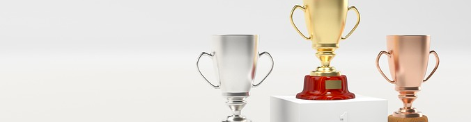 Gold, silver and bronze trophies | The Therapist's Guide to Google AdWords | Brighter Vision Web Solutions | Therapist Websites & Marketing for Therapists | Blog for Therapists