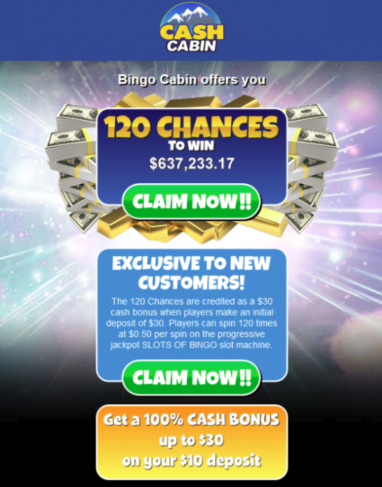 cash cabin 120 chances to win cpl ca nz affiliate