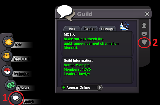 GUILD] Creating&Managing a Guild | Pokemon Revolution Online