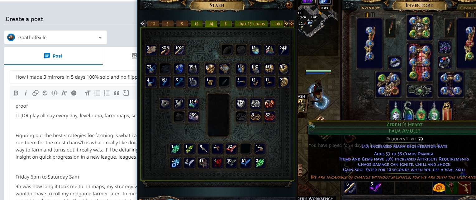 Guide] How i made 3 mirrors in 5 days 100% solo and no flipping on