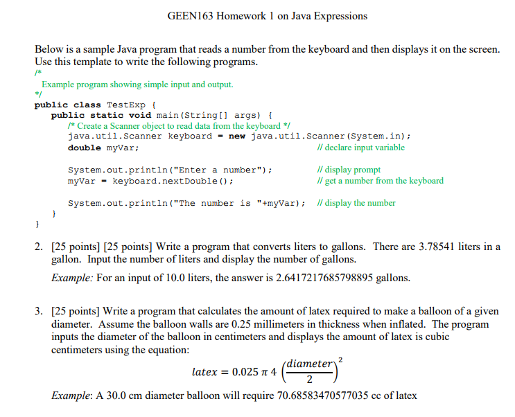 Solved: Below Is A Sample Java Program That Reads A Number ...