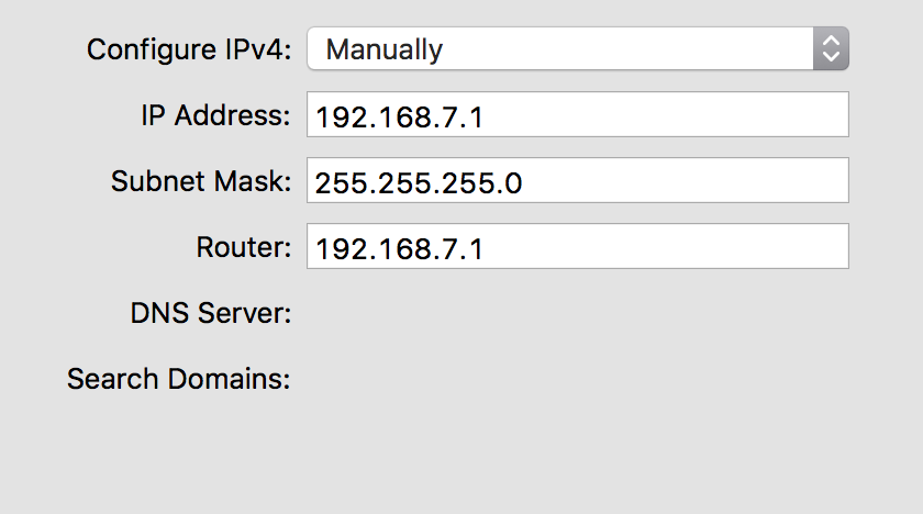 RPi0 Interface Configurations on my Mac
